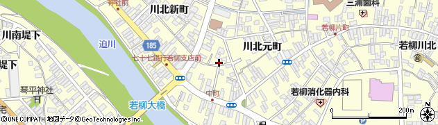 宮城県栗原市若柳川北中町周辺の地図