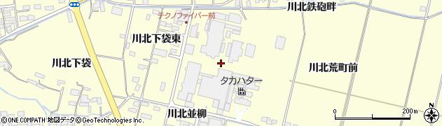 宮城県栗原市若柳川北荒町前周辺の地図