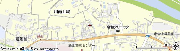 宮城県栗原市若柳川南上堤周辺の地図