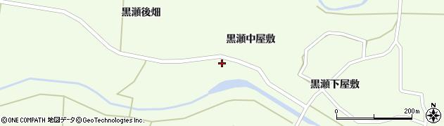 宮城県栗原市築館黒瀬中屋敷周辺の地図