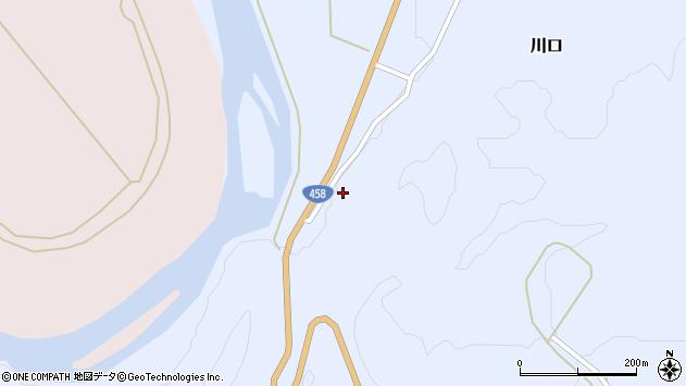 山形県最上郡鮭川村川口1814周辺の地図