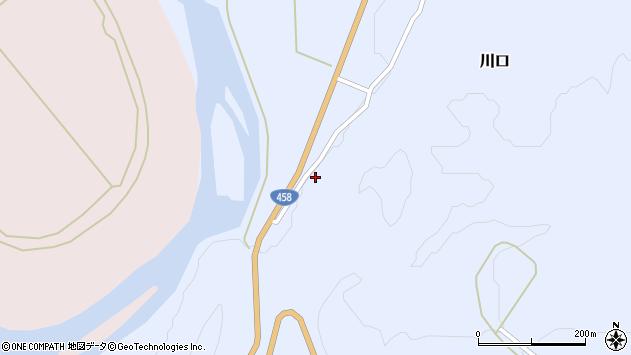山形県最上郡鮭川村川口1813周辺の地図