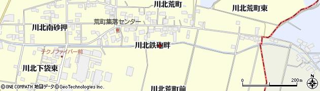 宮城県栗原市若柳川北鉄砲畔周辺の地図