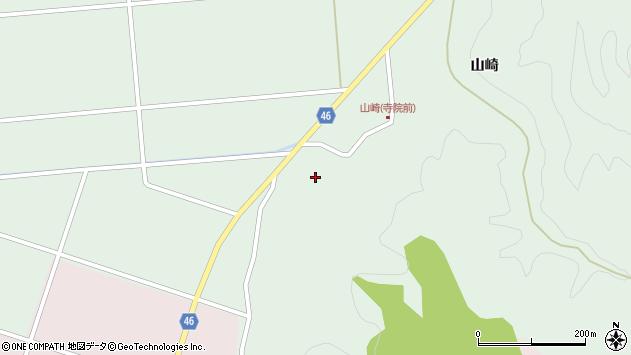 山形県東田川郡庄内町狩川山崎周辺の地図