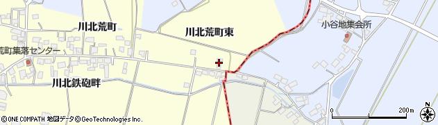 宮城県栗原市若柳川北荒町東周辺の地図