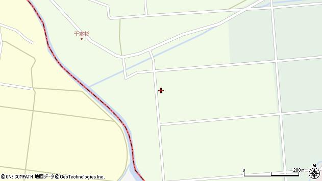 山形県東田川郡庄内町千本杉佐渡端周辺の地図