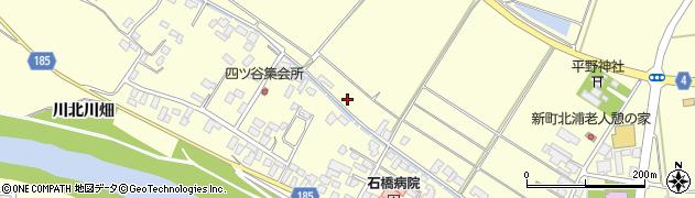宮城県栗原市若柳福岡下谷地周辺の地図