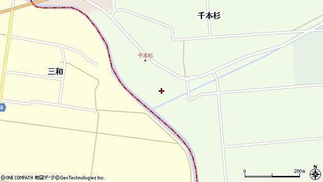 山形県東田川郡庄内町千本杉本村割117周辺の地図