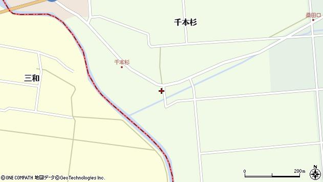 山形県東田川郡庄内町千本杉本村割100周辺の地図