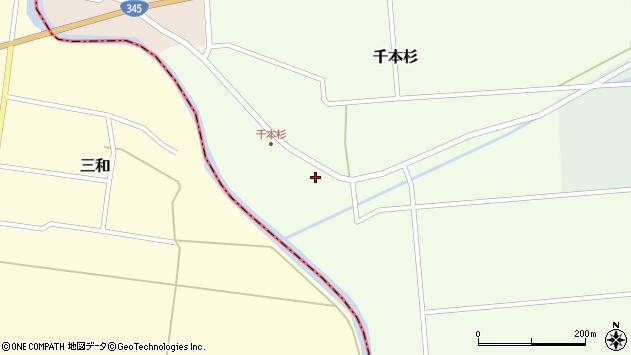 山形県東田川郡庄内町千本杉周辺の地図