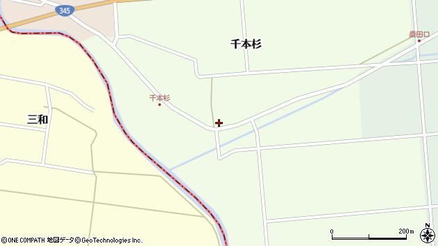 山形県東田川郡庄内町千本杉東割39周辺の地図