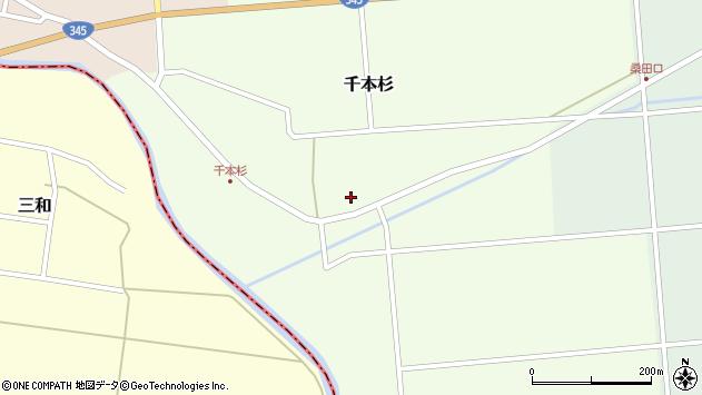 山形県東田川郡庄内町千本杉東割32周辺の地図