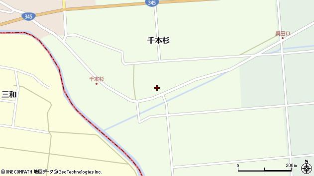 山形県東田川郡庄内町千本杉東割28周辺の地図