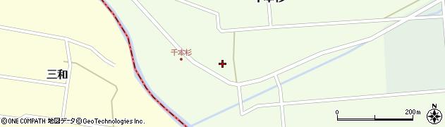 山形県東田川郡庄内町千本杉本村割88周辺の地図