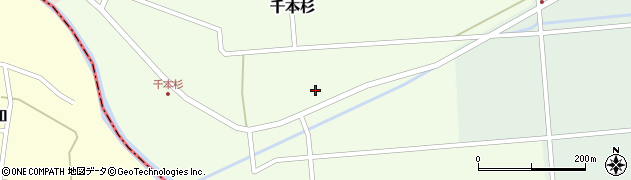 山形県東田川郡庄内町千本杉東割25周辺の地図
