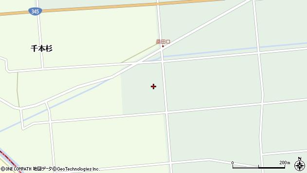 山形県東田川郡庄内町狩川下大揚周辺の地図