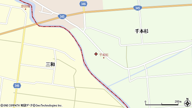 山形県東田川郡庄内町千本杉本村割35周辺の地図