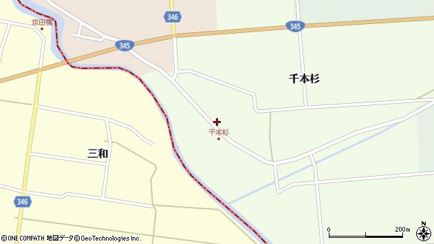 山形県東田川郡庄内町千本杉本村割18周辺の地図