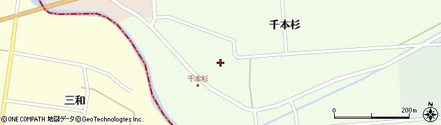 山形県東田川郡庄内町千本杉本村割80周辺の地図