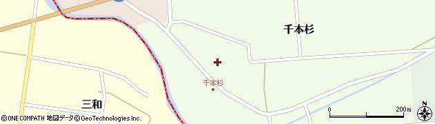 山形県東田川郡庄内町千本杉本村割周辺の地図