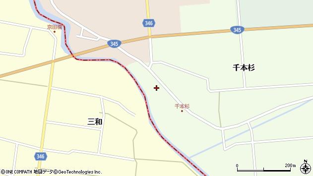 山形県東田川郡庄内町千本杉本村割31周辺の地図