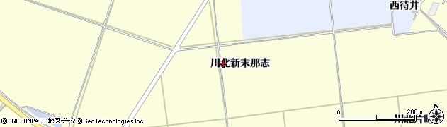 宮城県栗原市若柳川北新末那志周辺の地図