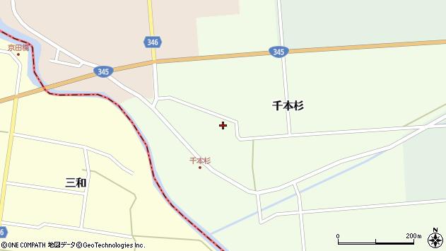 山形県東田川郡庄内町千本杉本村割10周辺の地図