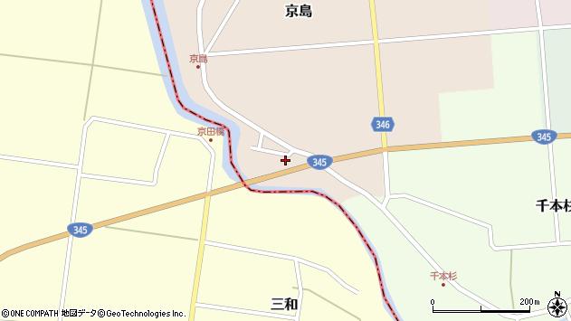 山形県東田川郡庄内町京島海道端18周辺の地図