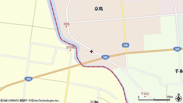 山形県東田川郡庄内町京島海道端34周辺の地図