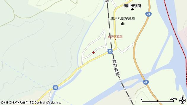 山形県東田川郡庄内町清川上川原8周辺の地図