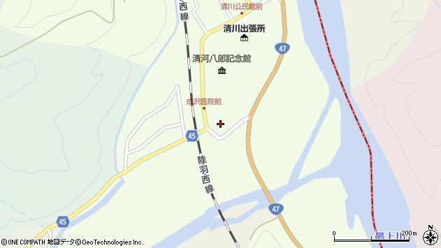 山形県東田川郡庄内町清川腹巻野周辺の地図