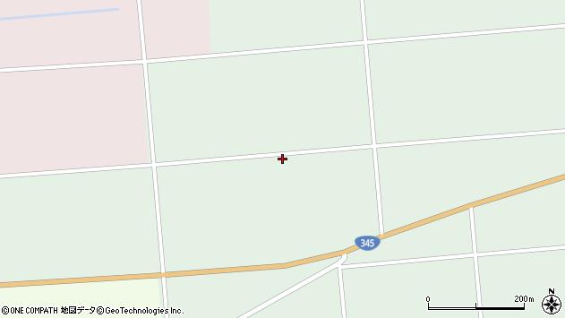 山形県東田川郡庄内町狩川中谷地周辺の地図