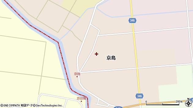 山形県東田川郡庄内町京島周辺の地図