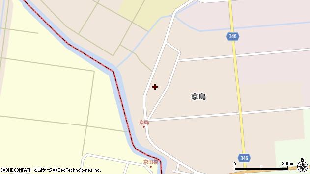 山形県東田川郡庄内町京島京田周辺の地図