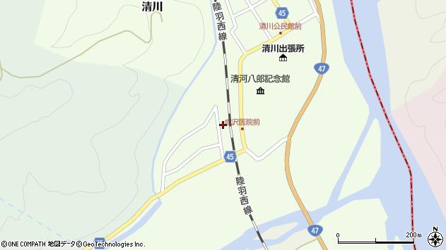山形県東田川郡庄内町清川上川原14周辺の地図