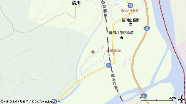 山形県東田川郡庄内町清川上川原12周辺の地図
