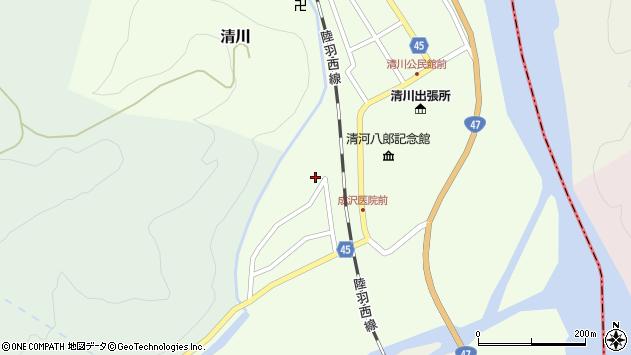 山形県東田川郡庄内町清川上川原24周辺の地図