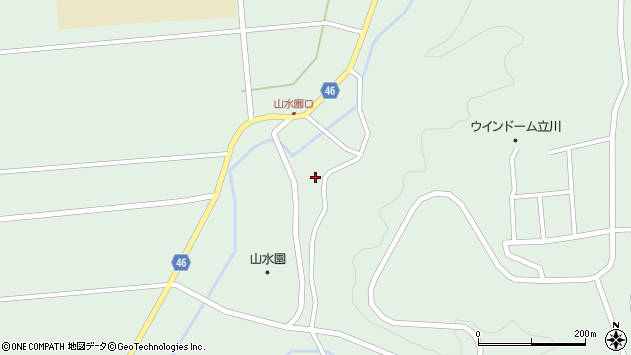 山形県東田川郡庄内町狩川玉坂25周辺の地図