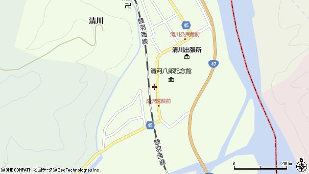 山形県東田川郡庄内町清川上川原周辺の地図