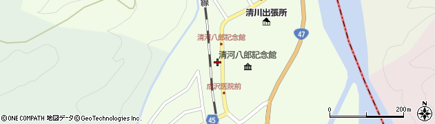 山形県東田川郡庄内町清川上川原30周辺の地図