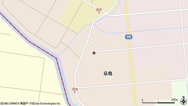 山形県東田川郡庄内町京島京田16周辺の地図