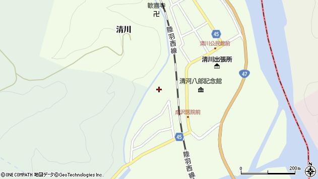 山形県東田川郡庄内町清川上川原25周辺の地図