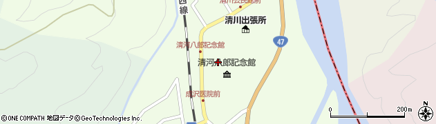 山形県東田川郡庄内町清川上川原37周辺の地図