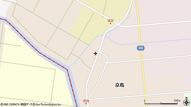 山形県東田川郡庄内町京島京田46周辺の地図