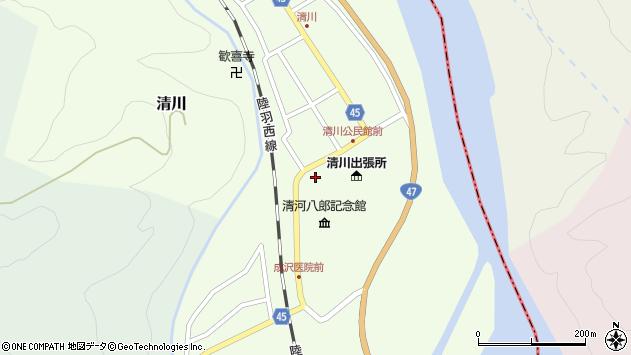 山形県東田川郡庄内町清川花崎14周辺の地図