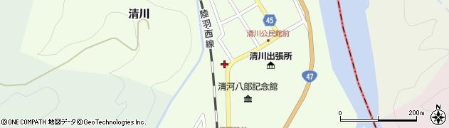 山形県東田川郡庄内町清川上川原52周辺の地図