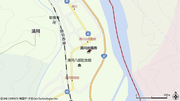 山形県東田川郡庄内町清川花崎1周辺の地図