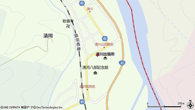 山形県東田川郡庄内町清川花崎9周辺の地図