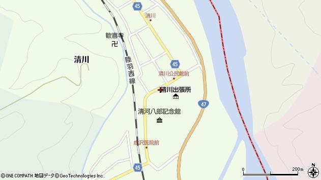 山形県東田川郡庄内町清川花崎10周辺の地図