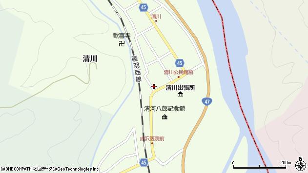 山形県東田川郡庄内町清川花崎16周辺の地図